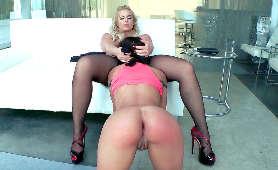 blondynka gwiazda porno dildo